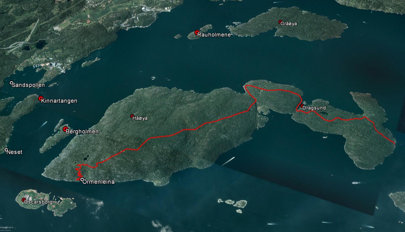 kart over håøya Vandring i Hurum. Trykk for større kart! | @heidenstrom kart over håøya